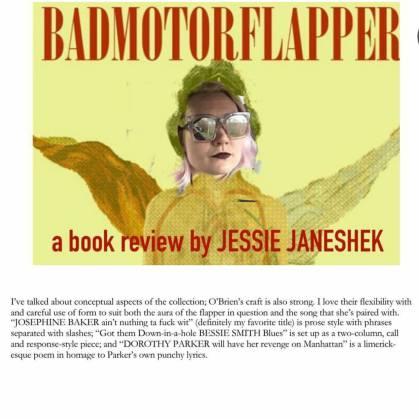 BADMOTORFLAPPER cover + Jessie Janeshek's face